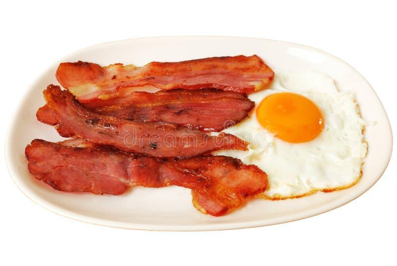 Gebraden ei met bacon royalty-vrije stock afbeelding