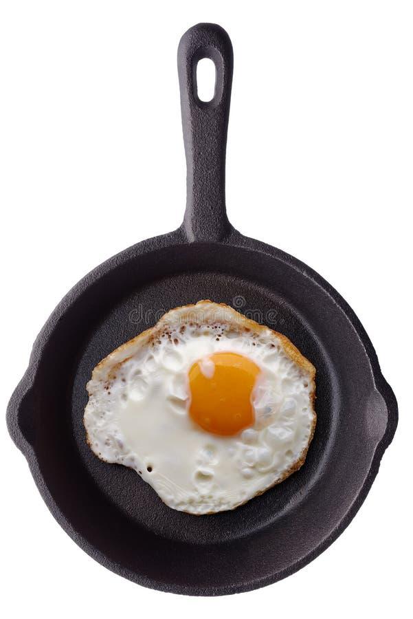 Gebraden ei op een pan royalty-vrije stock foto