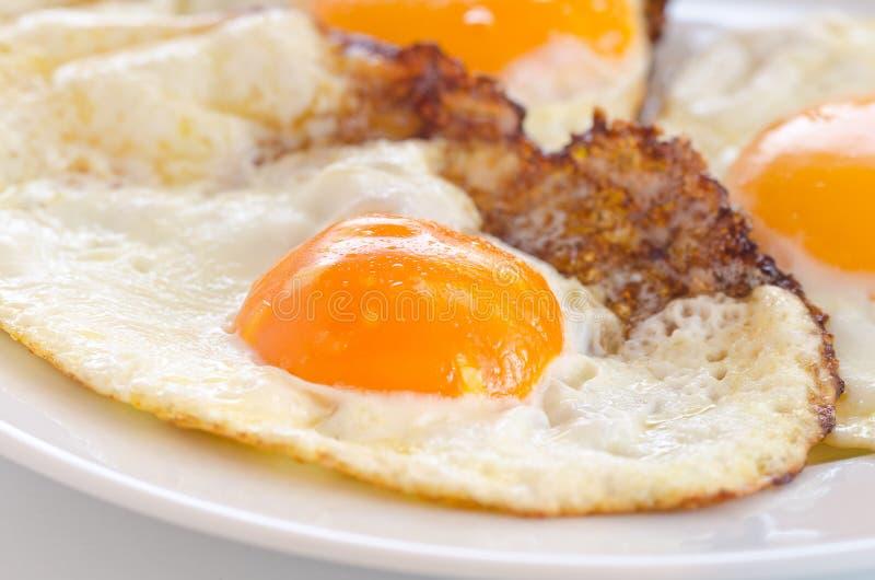 Gebraden eieren stock afbeelding