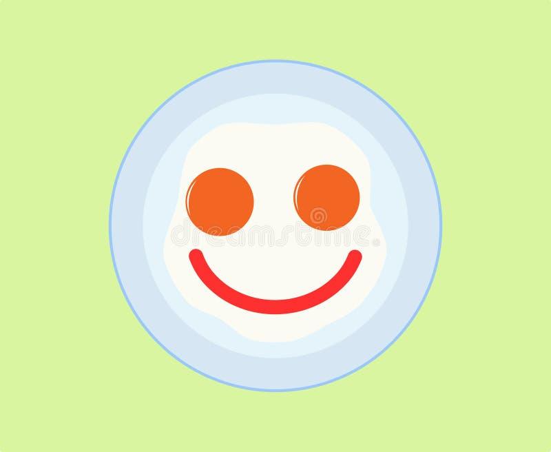 Gebraden eierenpictogram royalty-vrije illustratie