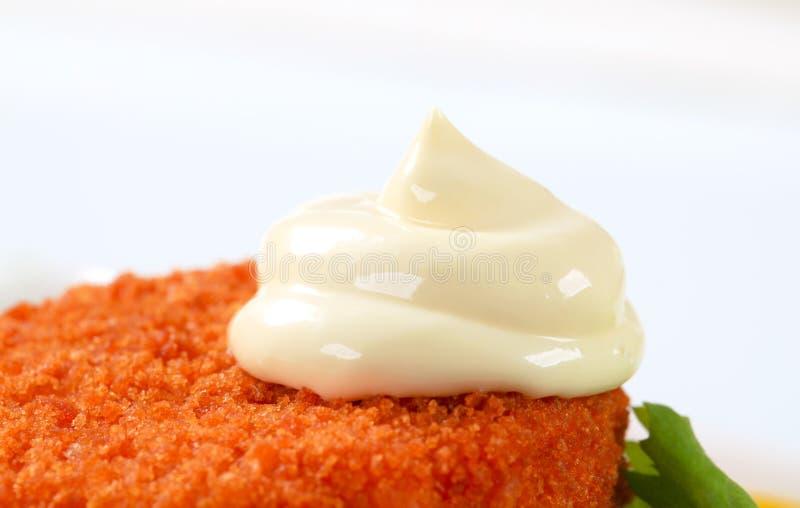 Gebraden gepaneerde kaas royalty-vrije stock afbeelding