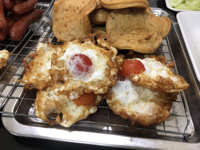 Gebraden gezouten eieren royalty-vrije stock foto's