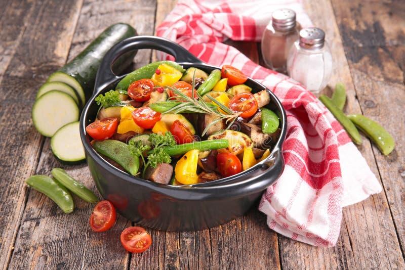Gebraden groente royalty-vrije stock fotografie