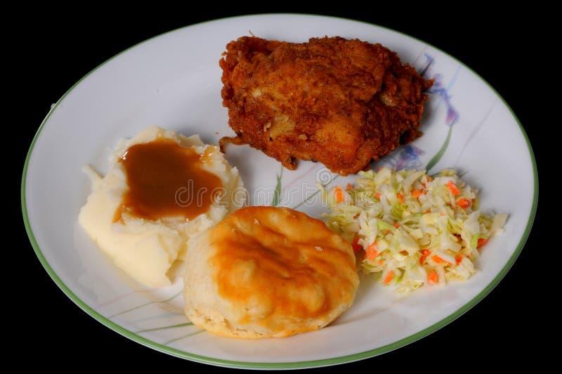 Gebraden Kip en Fijngestampte Aardappels stock afbeeldingen