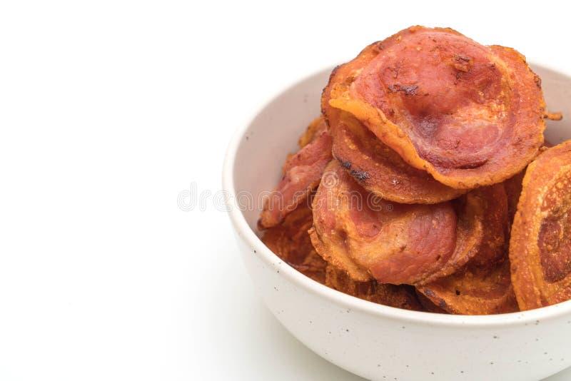 Gebraden knapperig bacon royalty-vrije stock foto