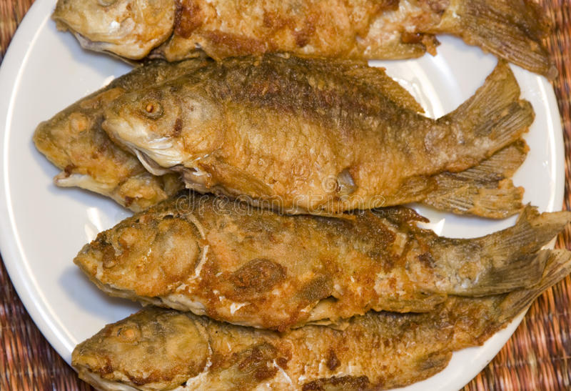 Gebraden vissen stock afbeelding