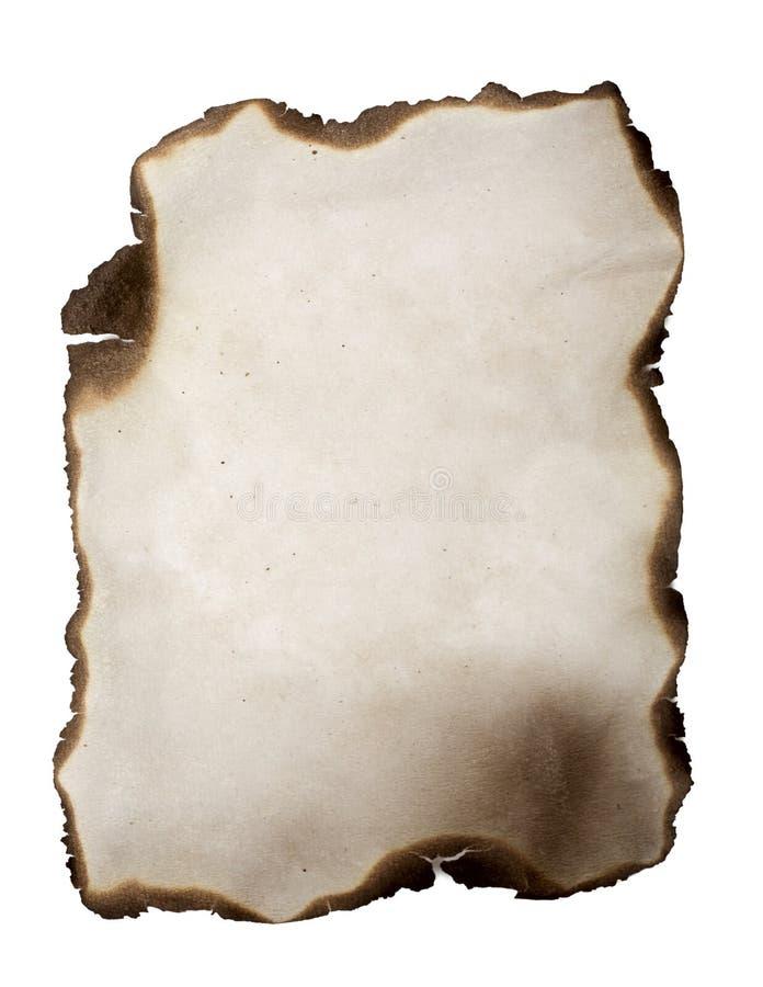 Gebrand document royalty-vrije stock foto