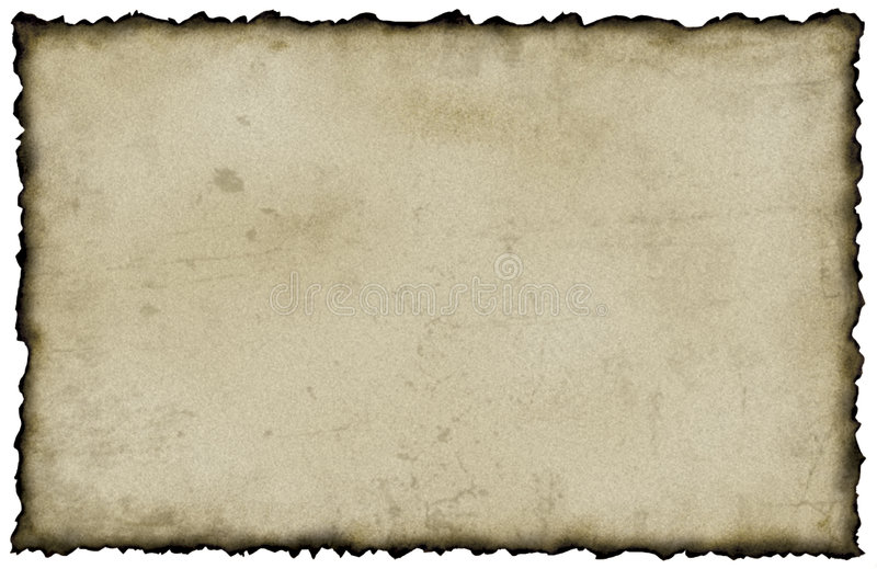Gebrand Document stock illustratie