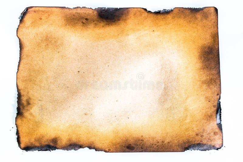Gebrand document royalty-vrije stock afbeelding