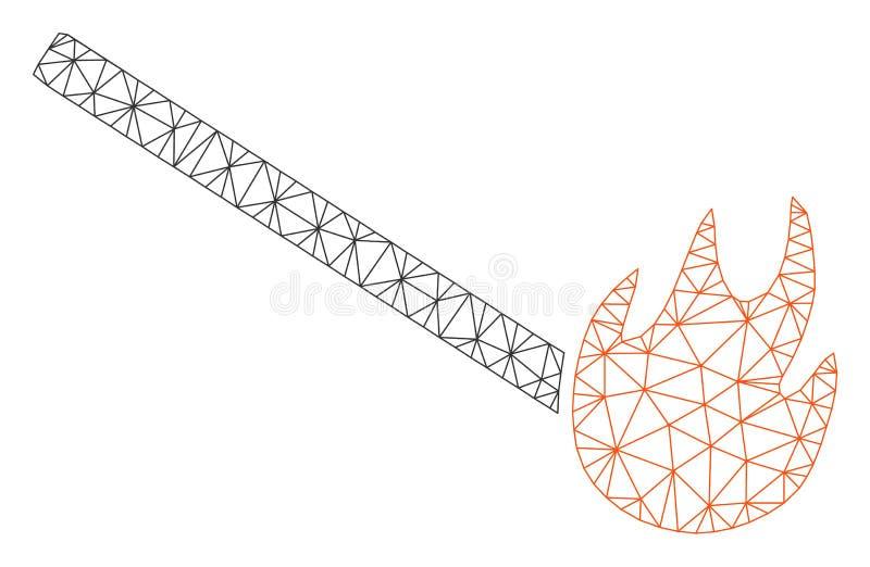 Gebrand Gelijke Veelhoekig Kader Vectormesh illustration vector illustratie