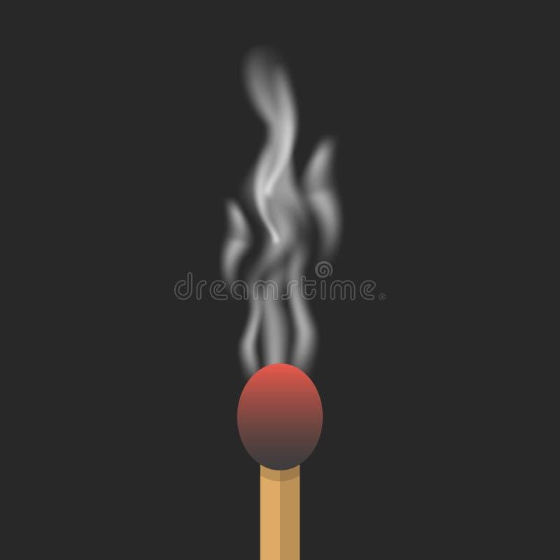 Gebrande gelijke met rook royalty-vrije illustratie