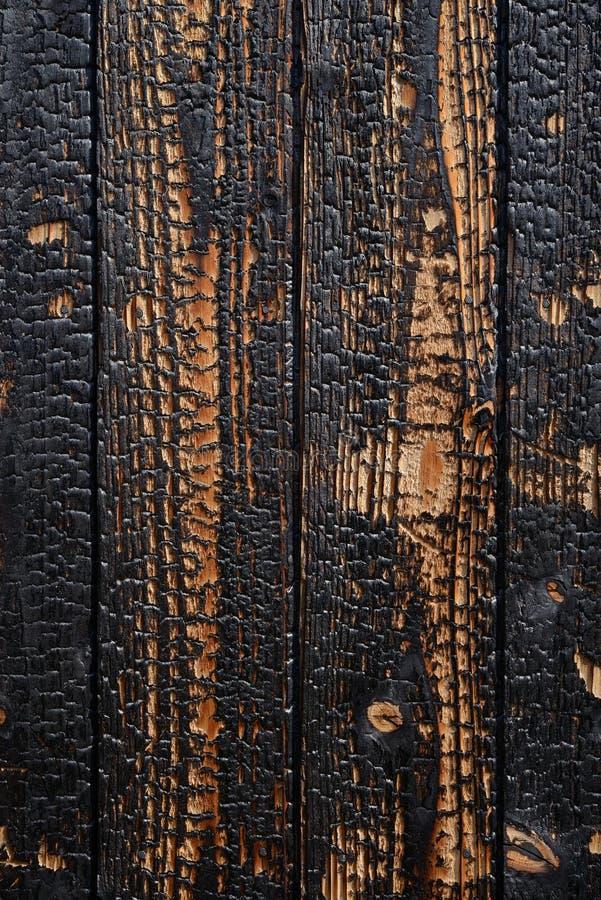 Gebrande houten planken