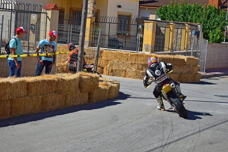 Gebrande Motorfietsband royalty-vrije stock afbeelding
