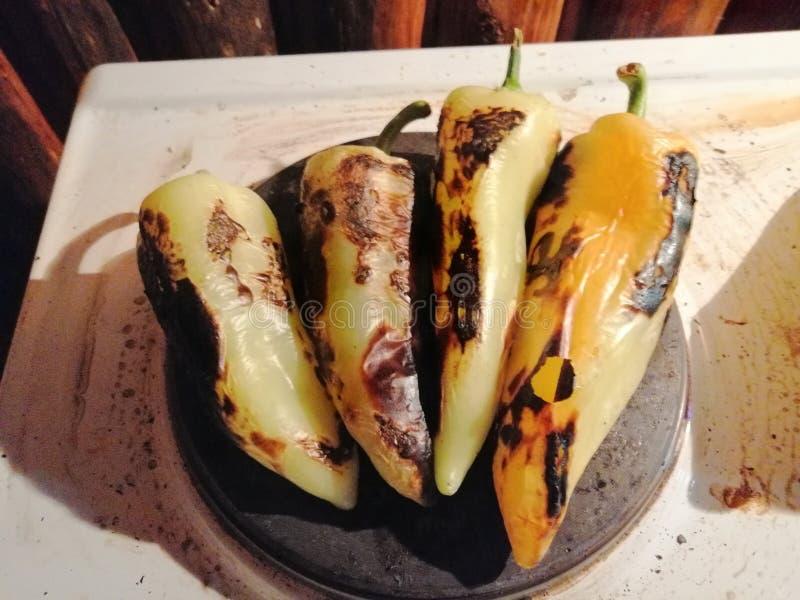 Gebrande paprika stock foto