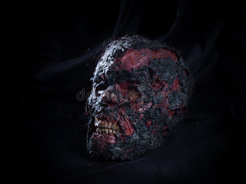 Gebrande schedel royalty-vrije stock afbeeldingen