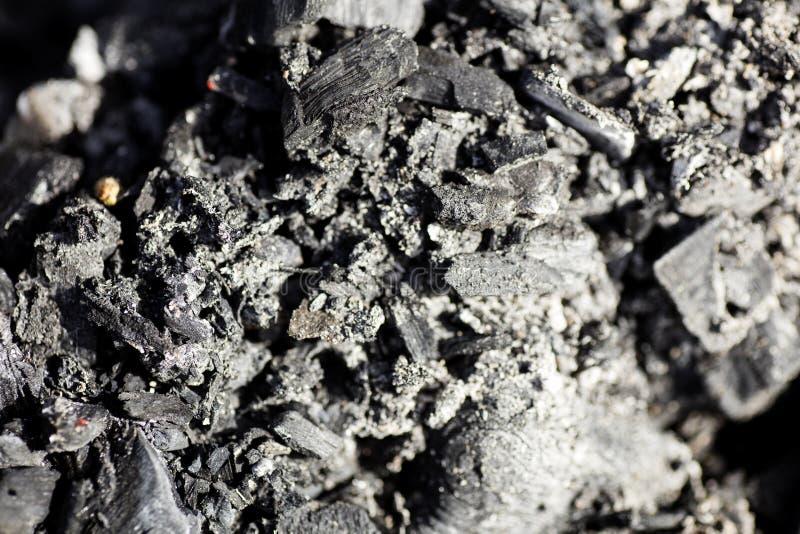 Gebrande steenkool macro abstracte achtergrondbehanghoogte - de canon eos 5DS van kwaliteitsdrukken royalty-vrije stock foto's