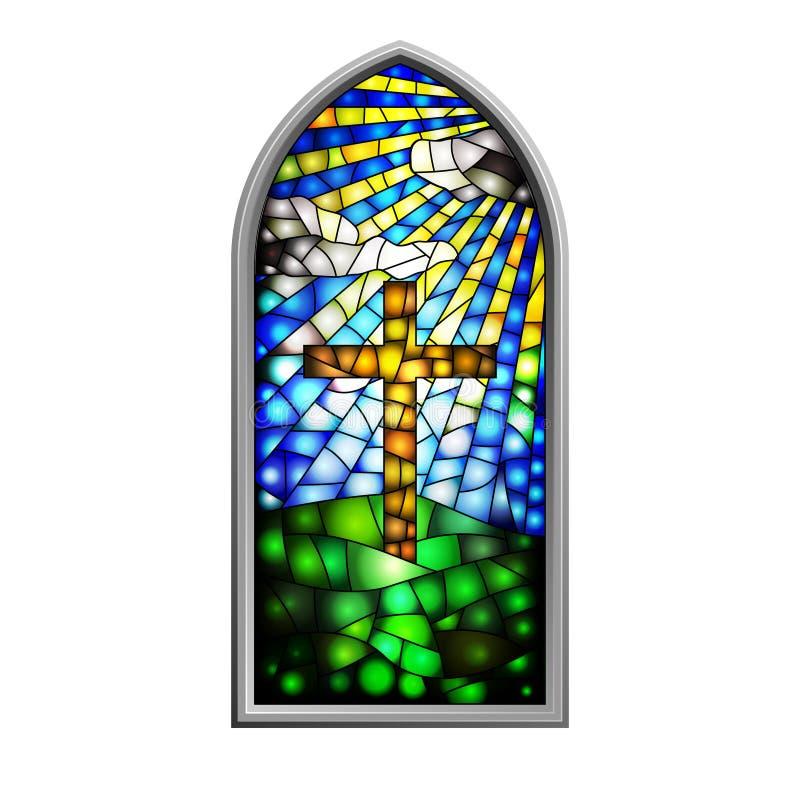 Gebrandschilderd glas royalty-vrije illustratie
