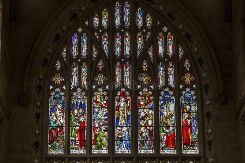Gebrandschilderd glas bij St Andrew ` s Kathedraal, de kathedraalkerk van het Anglicaanse Bisdom van Sydney royalty-vrije stock foto's