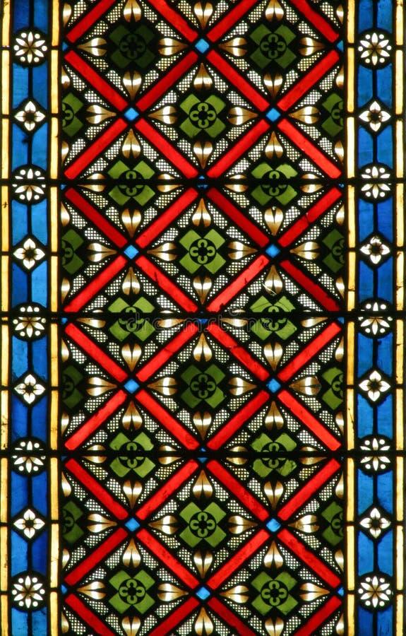 Gebrandschilderd glas, de kathedraal van Zagreb royalty-vrije stock foto