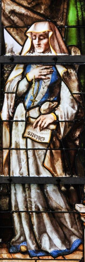 Gebrandschilderd glas - Frances van Rome royalty-vrije stock afbeeldingen