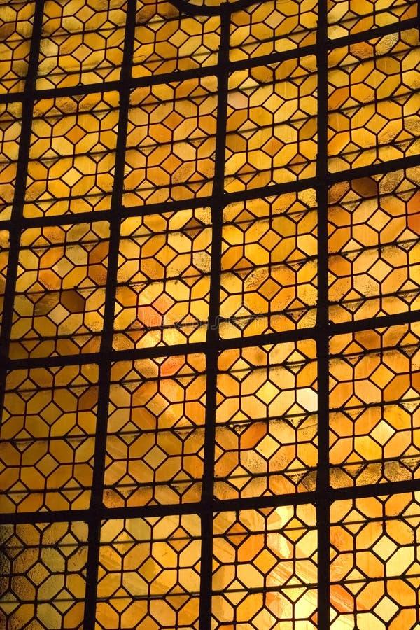 Gebrandschilderd glas in Les Invalides royalty-vrije stock foto