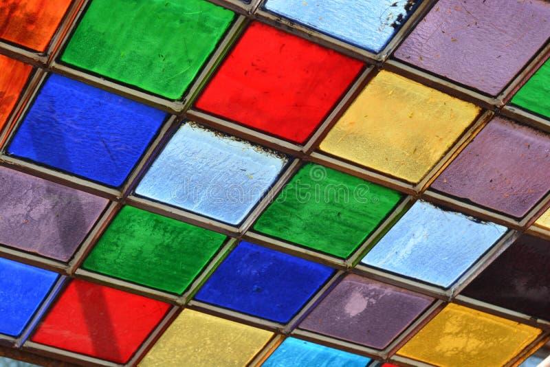 Gebrandschilderd glasplafond royalty-vrije stock afbeeldingen