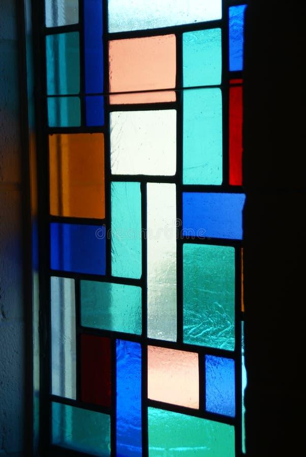 Gebrandschilderd glasvenster in Katholieke Kerk in Hayfield Minnesota royalty-vrije stock foto