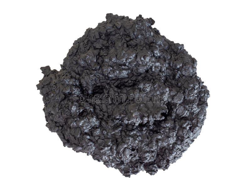 Gebrannter Keks - schwarze Holzkohle, Hauptbackenausfallung, Ausfall Vergessen im Ofen Lokalisiert auf Weiß stockbilder