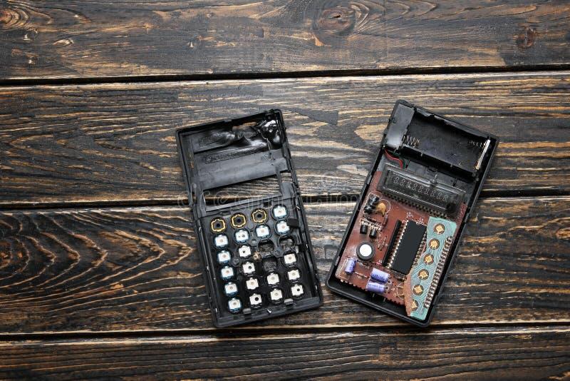 Gebrannter Taschenrechner stockfotos