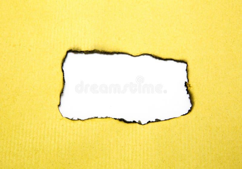Gebranntes braunes Papier stockfotografie