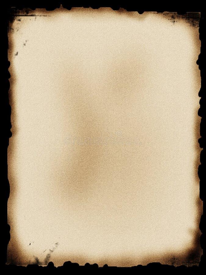 Gebranntes Papier stock abbildung