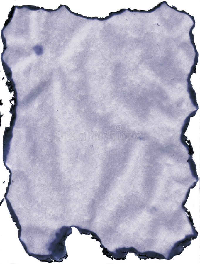 Gebranntes Randpapier stockfoto
