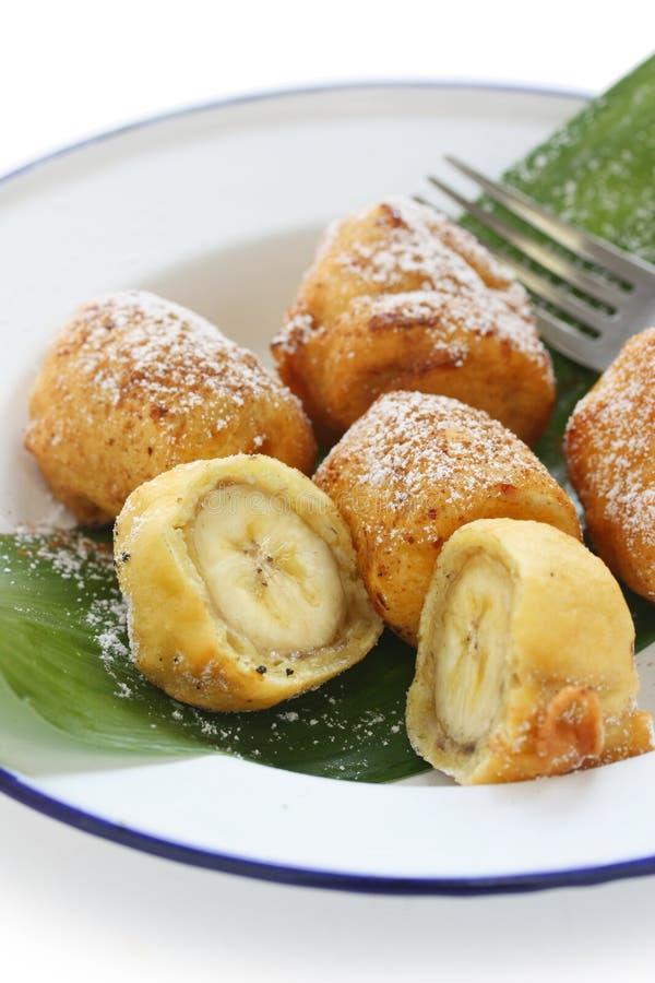 Gebratene Bananenstückchen, pisang goreng lizenzfreie stockfotografie