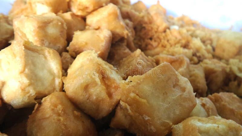Gebratene Bohnengallerte gegessen mit Soße lizenzfreie stockfotos