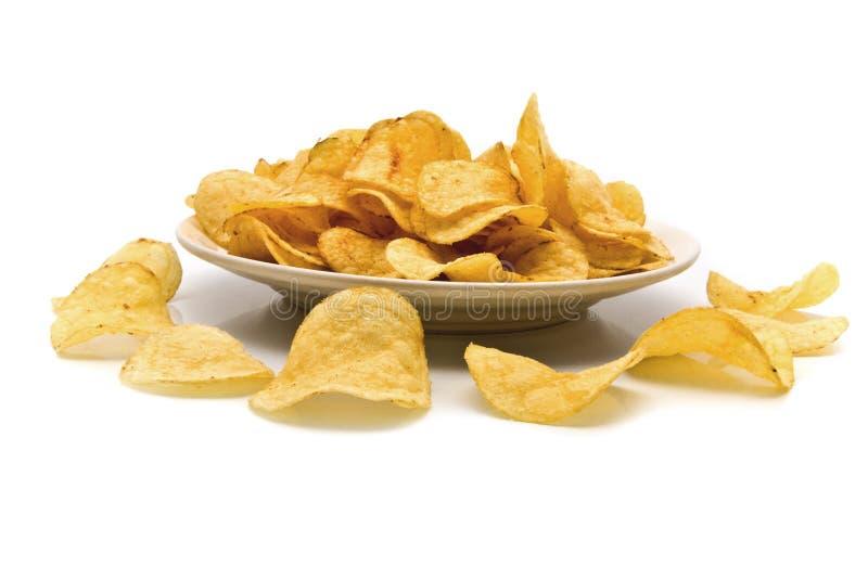 Gebratene Chips stockfoto