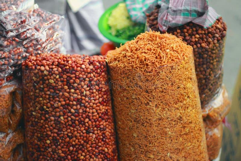 Gebratene Erdnüsse, Abschluss oben stockfotos