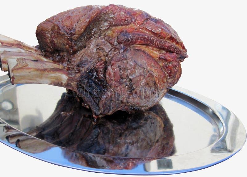 Gebratene Rippe des Rindfleisches lizenzfreie stockbilder