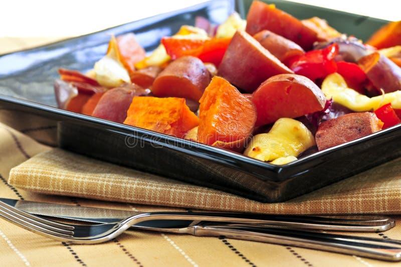 Gebratene süße Kartoffeln lizenzfreie stockfotos