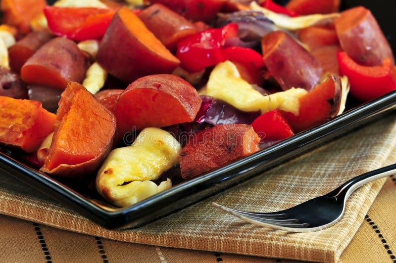 Gebratene süße Kartoffeln lizenzfreie stockfotografie