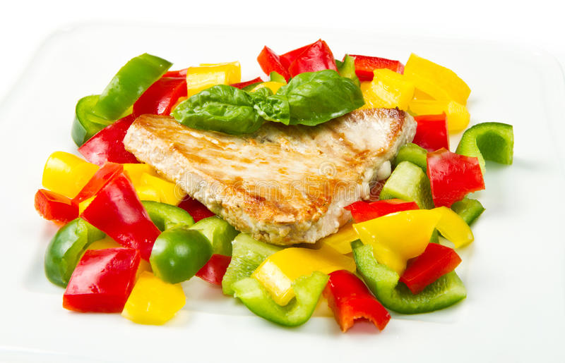 Gebratene Thunfischverkleidung lizenzfreie stockfotos