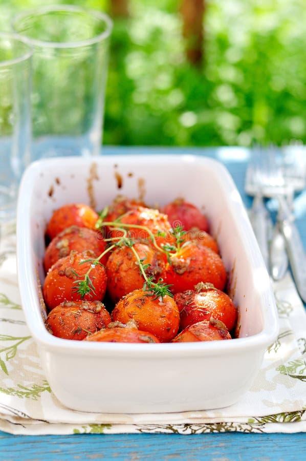 Gebratene Tomaten stockfotografie