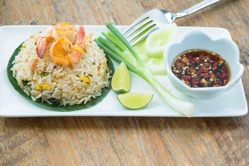 Gebratener Reis der Garnele stockbilder
