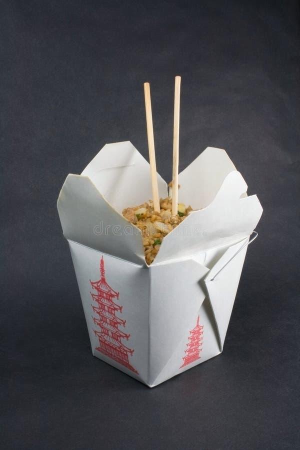 Gebratener Reis nimmt heraus stockbilder