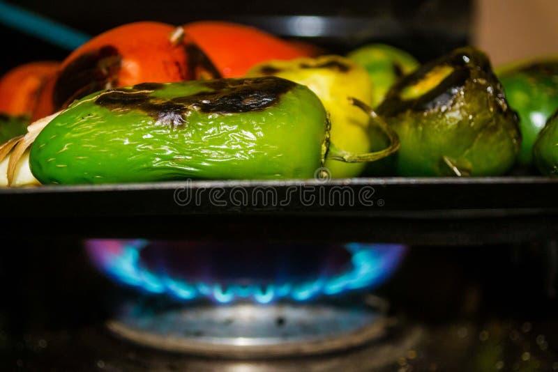 Gebratenes Chilis stockfoto