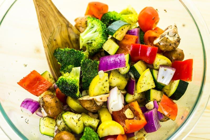 Gebratenes Gemüse lizenzfreie stockbilder