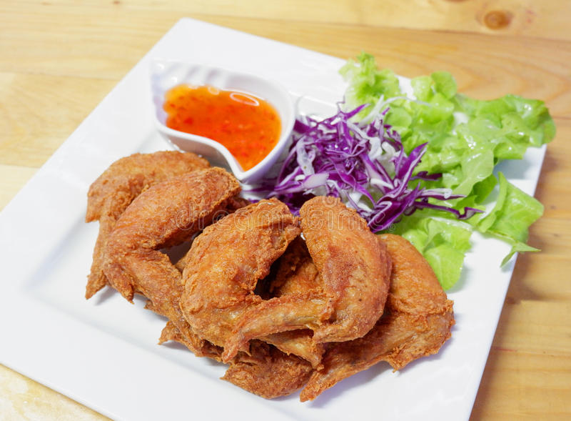 Gebratenes Hühnerflügel lizenzfreie stockfotos