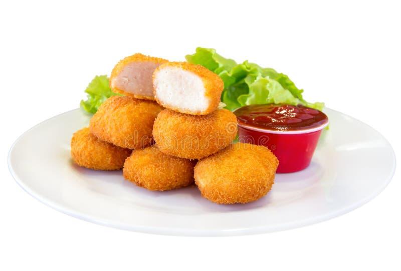 Gebratenes Huhn-Nuggets lizenzfreies stockfoto