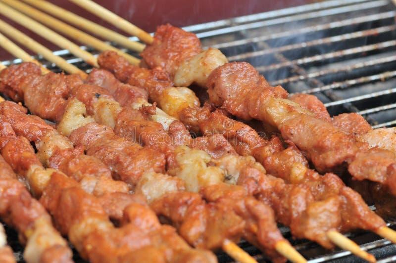 Gebratenes Lamm shashlik/Lammaufsteckspindel/shish kebab/auf Festivalfeinschmeckerfestival lizenzfreies stockfoto