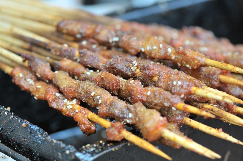Gebratenes Lamm shashlik/Lammaufsteckspindel/shish kebab/auf Festivalfeinschmeckerfestival lizenzfreies stockbild