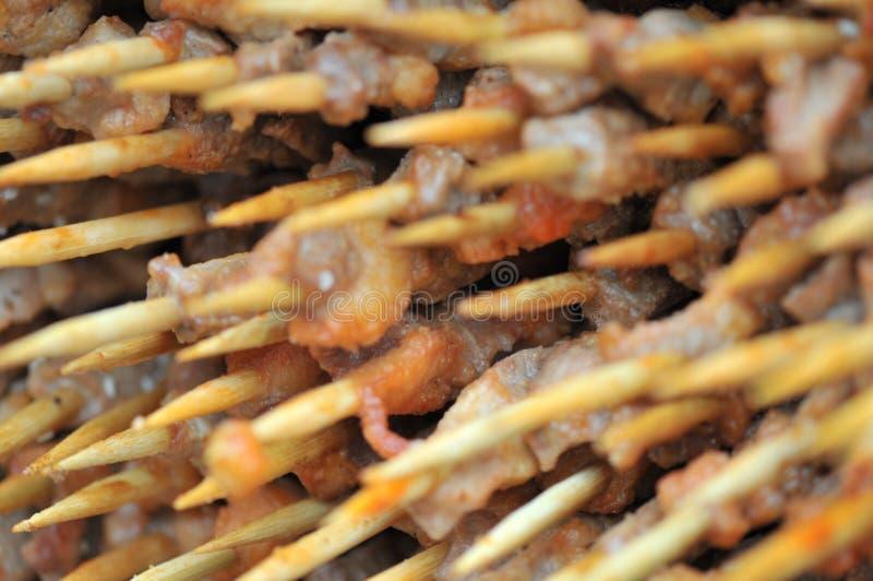 Gebratenes Lamm shashlik/Lammaufsteckspindel/shish kebab/auf Festivalfeinschmeckerfestival stockbild